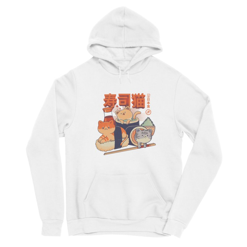 Sushi Cats Women's Sponge Fleece Pullover Hoody by Pepe Rodríguez