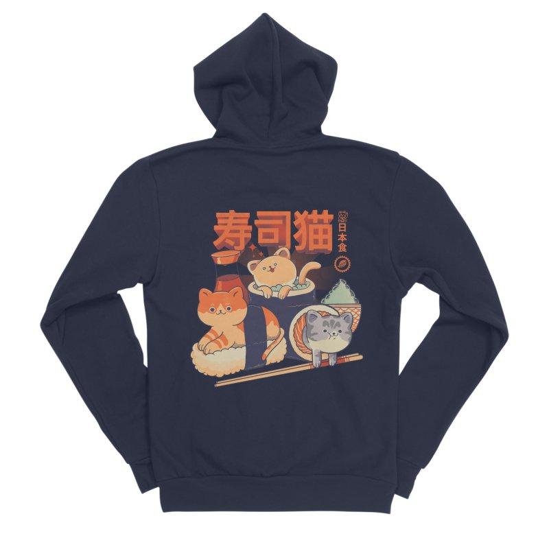 Sushi Cats Men's Sponge Fleece Zip-Up Hoody by Pepe Rodríguez