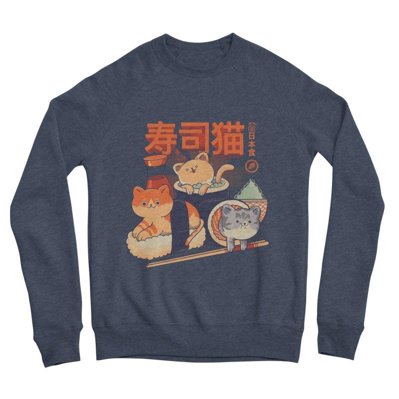 Sushi Cats Men's Sponge Fleece Sweatshirt by Pepe Rodríguez