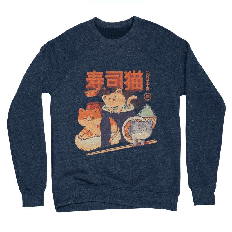 Sushi Cats Women's Sponge Fleece Sweatshirt by Pepe Rodríguez