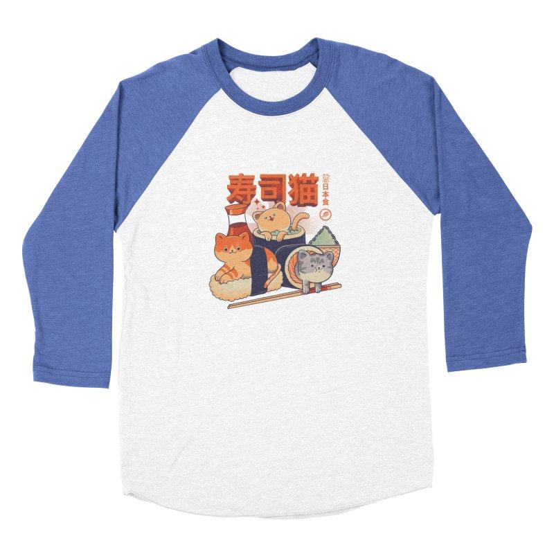 Sushi Cats Women's Baseball Triblend Longsleeve T-Shirt by Pepe Rodríguez