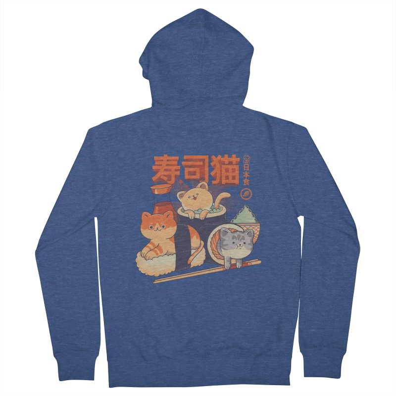 Sushi Cats Women's French Terry Zip-Up Hoody by Pepe Rodríguez