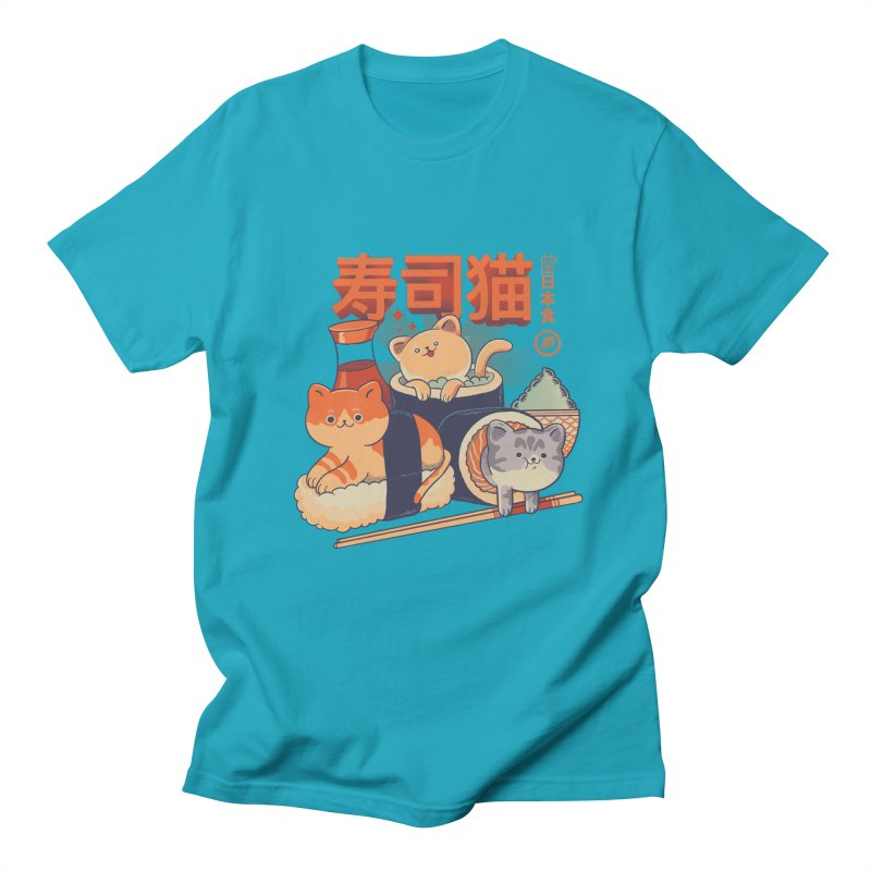 Sushi Cats Women's Regular Unisex T-Shirt by Pepe Rodríguez