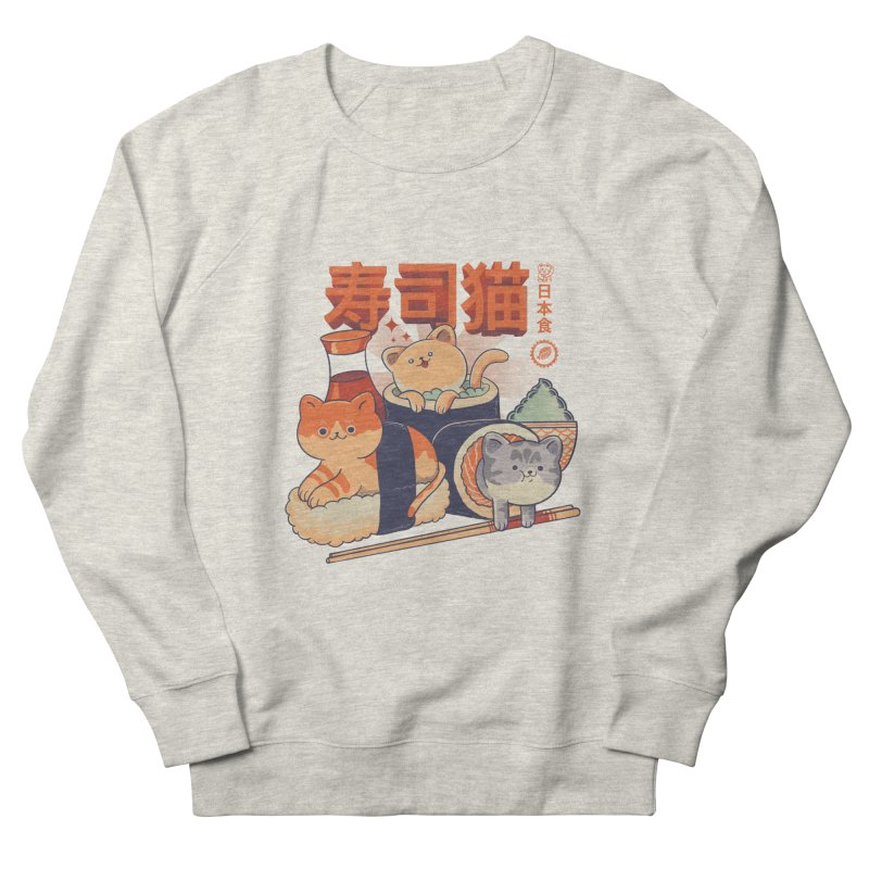 Sushi Cats Men's French Terry Sweatshirt by Pepe Rodríguez