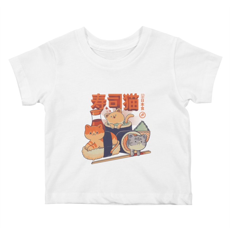 Sushi Cats Kids Baby T-Shirt by Pepe Rodríguez