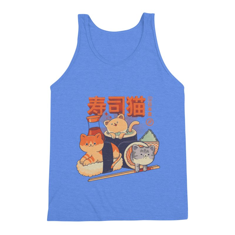 Sushi Cats Men's Triblend Tank by Pepe Rodríguez