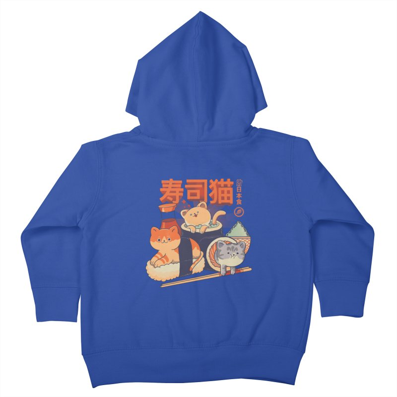 Sushi Cats Kids Toddler Zip-Up Hoody by Pepe Rodríguez