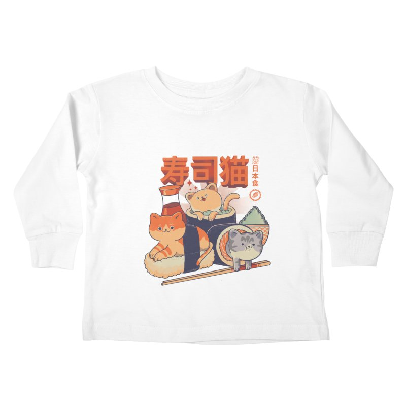 Sushi Cats Kids Toddler Longsleeve T-Shirt by Pepe Rodríguez