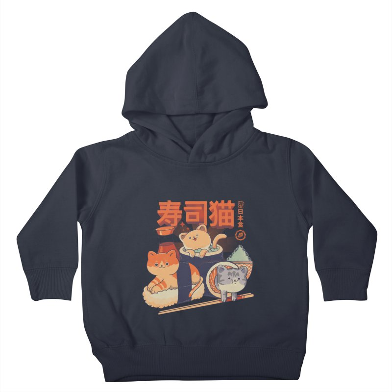 Sushi Cats Kids Toddler Pullover Hoody by Pepe Rodríguez