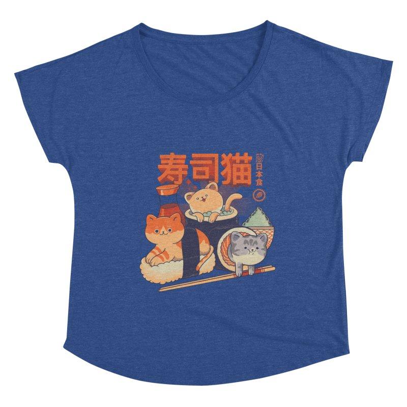 Sushi Cats Women's Dolman Scoop Neck by Pepe Rodríguez