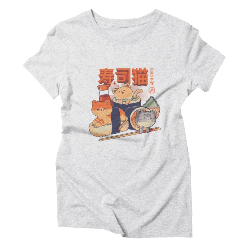 Sushi Cats Women's Triblend T-Shirt by Pepe Rodríguez
