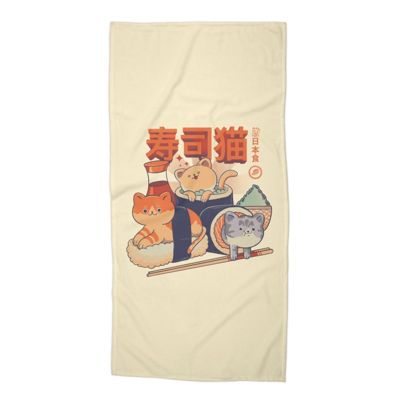 Sushi Cats Accessories Beach Towel by Pepe Rodríguez