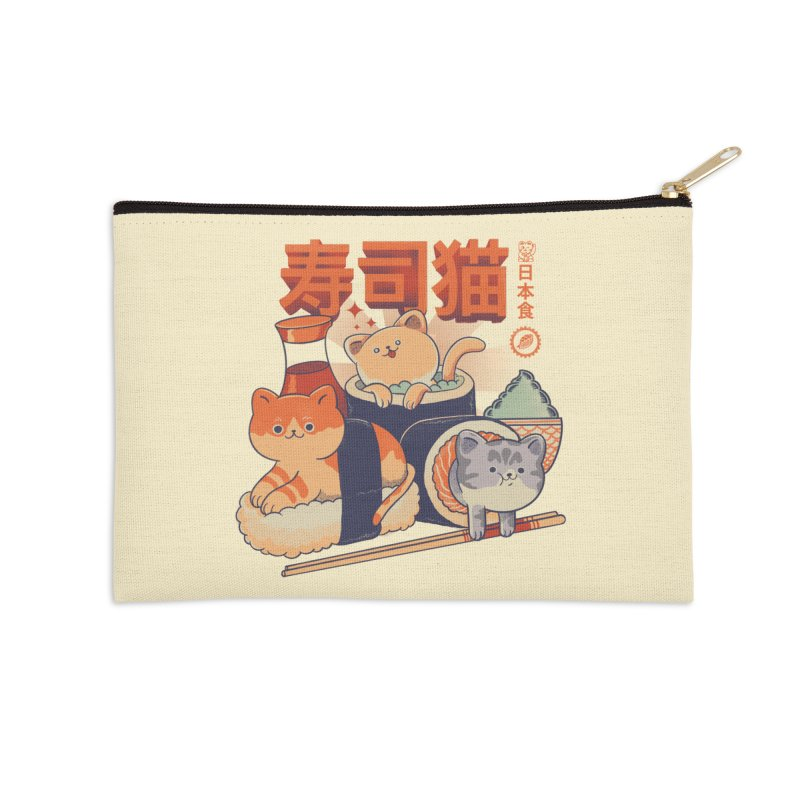 Sushi Cats Accessories Zip Pouch by Pepe Rodríguez
