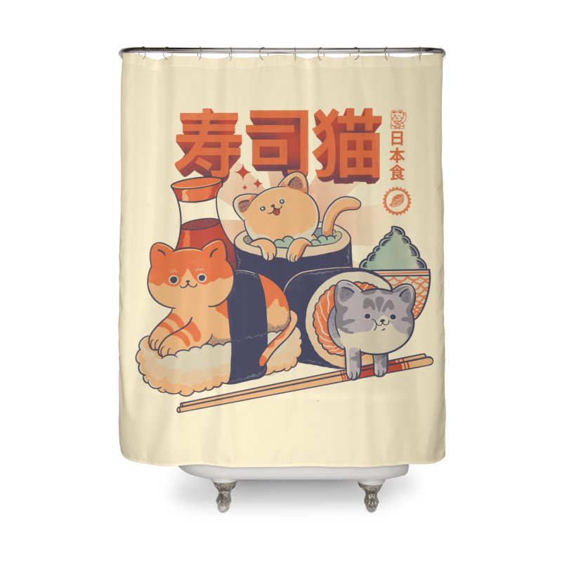 Sushi Cats Home Shower Curtain by Pepe Rodríguez