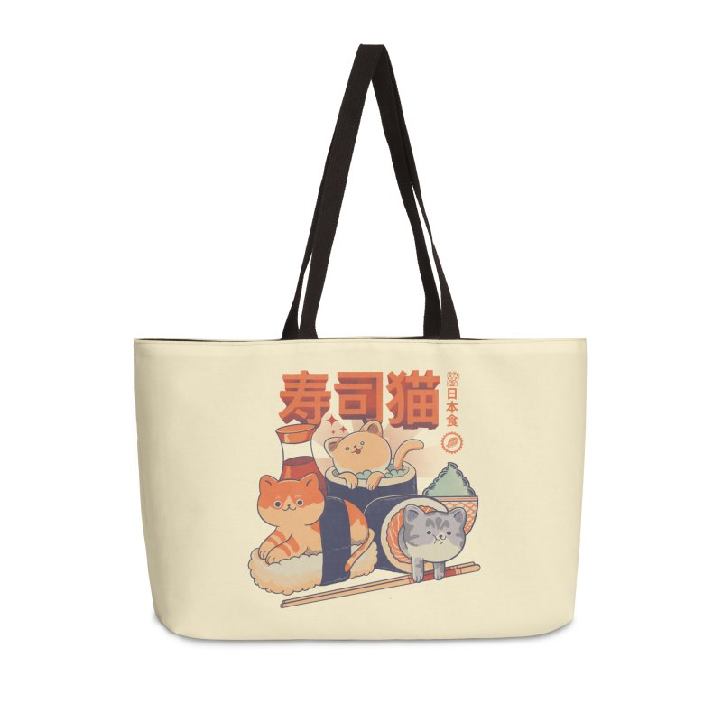 Sushi Cats Accessories Weekender Bag Bag by Pepe Rodríguez