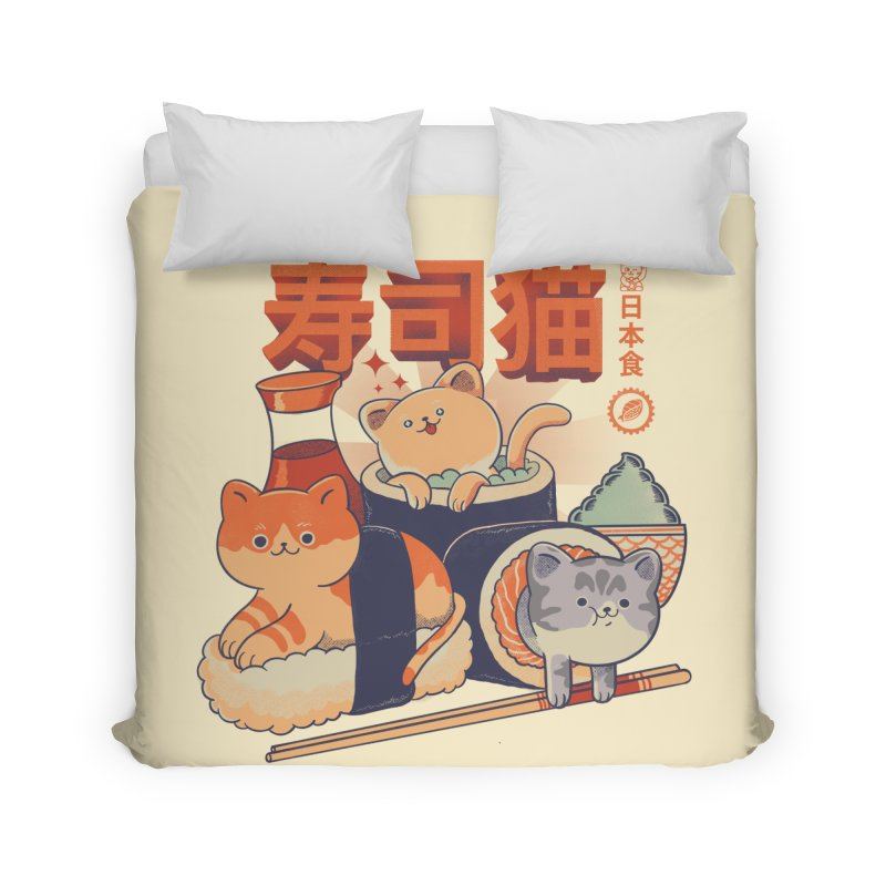 Sushi Cats Home Duvet by Pepe Rodríguez