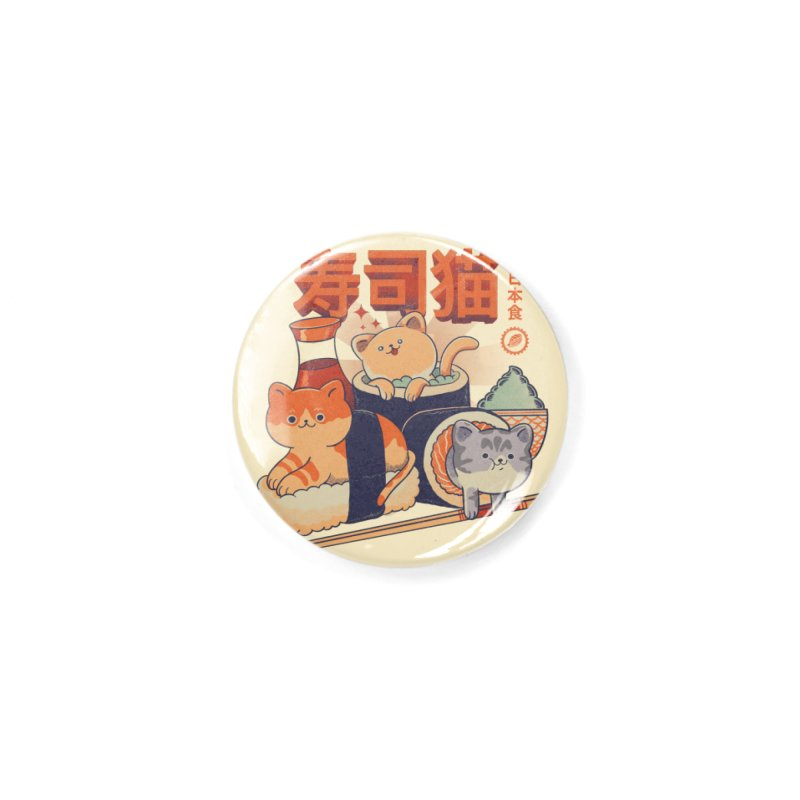 Sushi Cats Accessories Button by Pepe Rodríguez