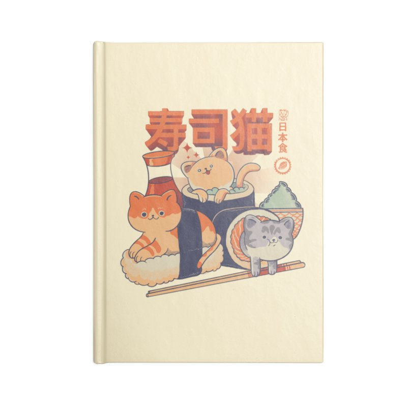 Sushi Cats Accessories Blank Journal Notebook by Pepe Rodríguez
