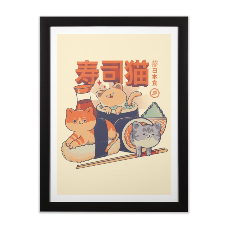 Sushi Cats Home Framed Fine Art Print by Pepe Rodríguez