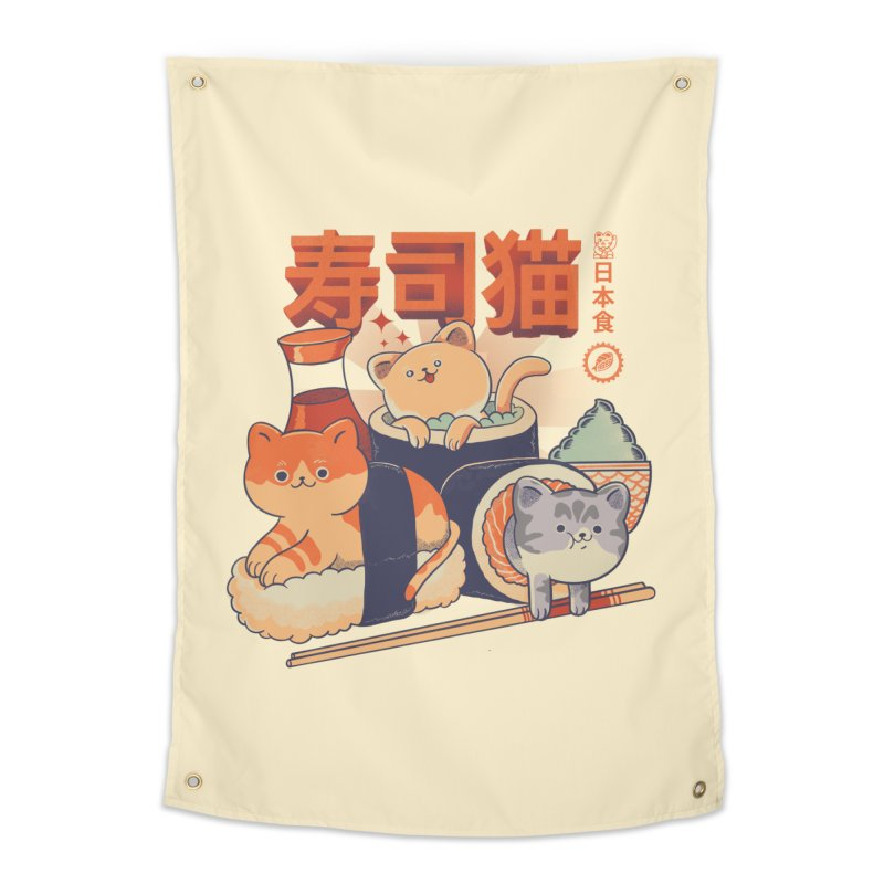 Sushi Cats Home Tapestry by Pepe Rodríguez