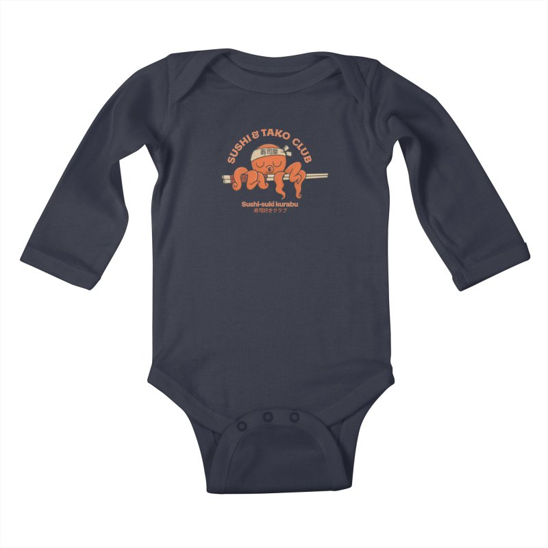 Sushi and Tako Club Kids Baby Longsleeve Bodysuit by Pepe Rodríguez