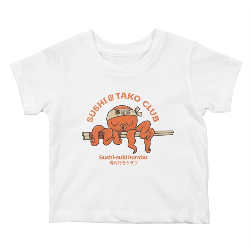Sushi and Tako Club Kids Baby T-Shirt by Pepe Rodríguez