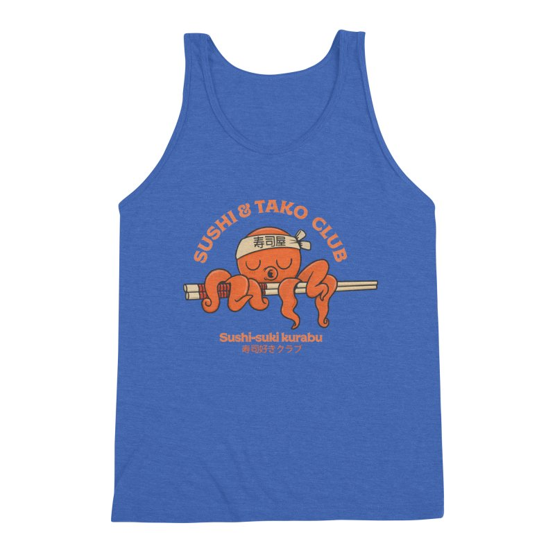 Sushi and Tako Club Men's Triblend Tank by Pepe Rodríguez