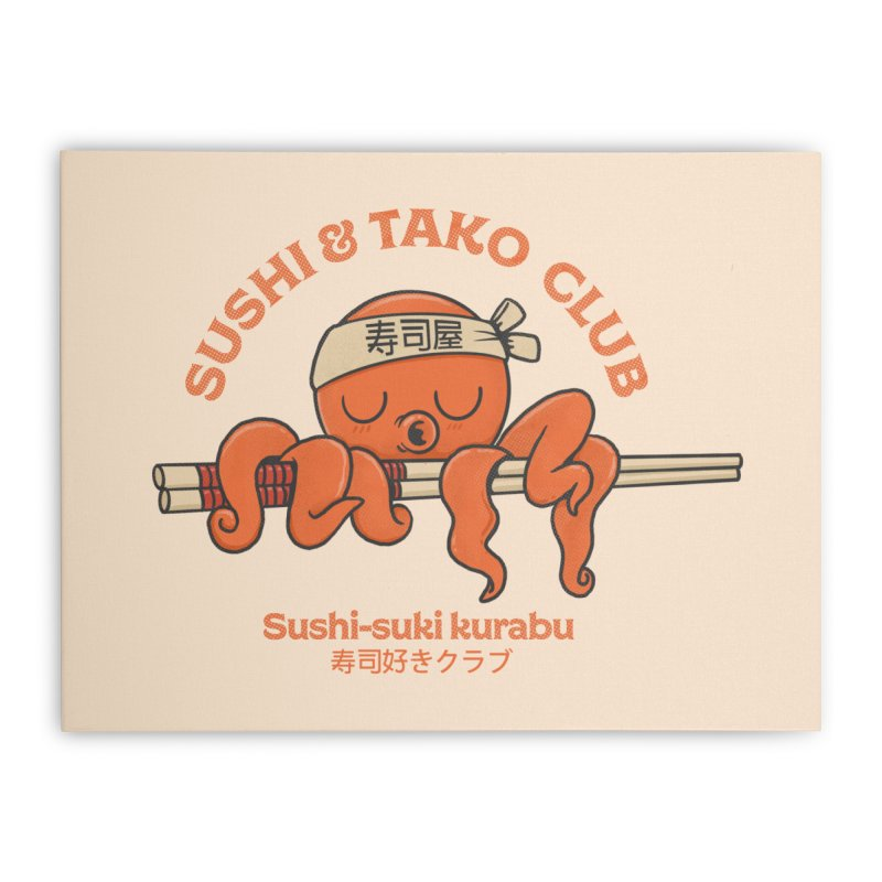 Sushi and Tako Club Home Stretched Canvas by Pepe Rodríguez