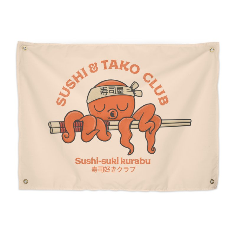 Sushi and Tako Club Home Tapestry by Pepe Rodríguez