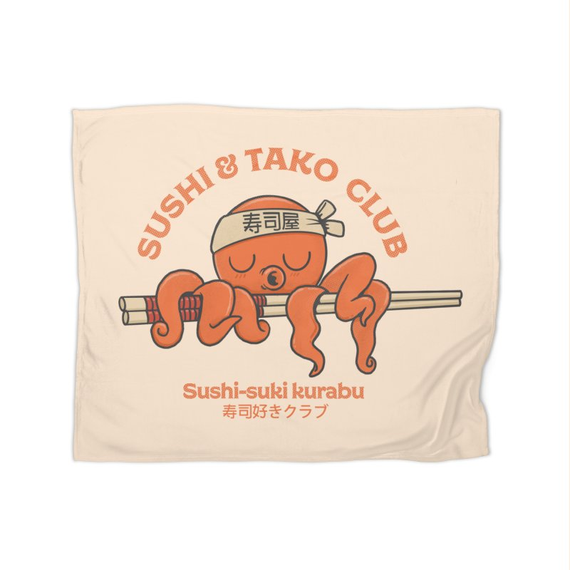 Sushi and Tako Club Home Fleece Blanket Blanket by Pepe Rodríguez
