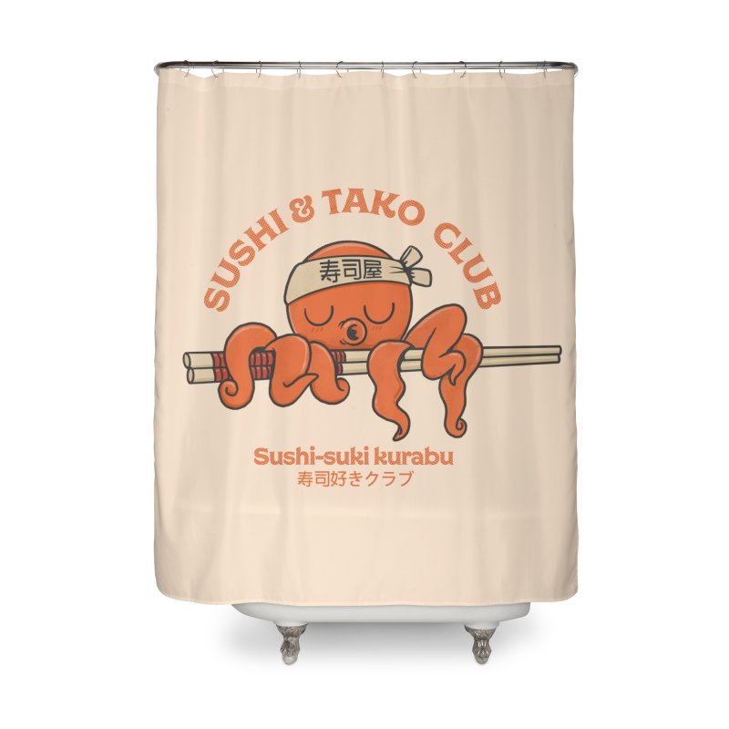 Sushi and Tako Club Home Shower Curtain by Pepe Rodríguez