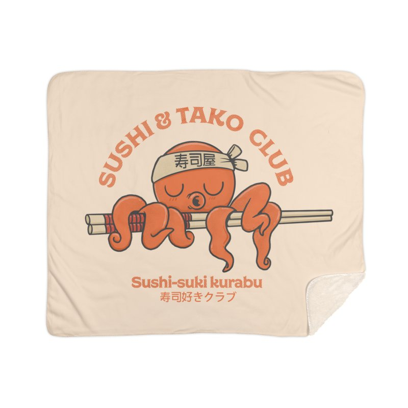Sushi and Tako Club Home Sherpa Blanket Blanket by Pepe Rodríguez