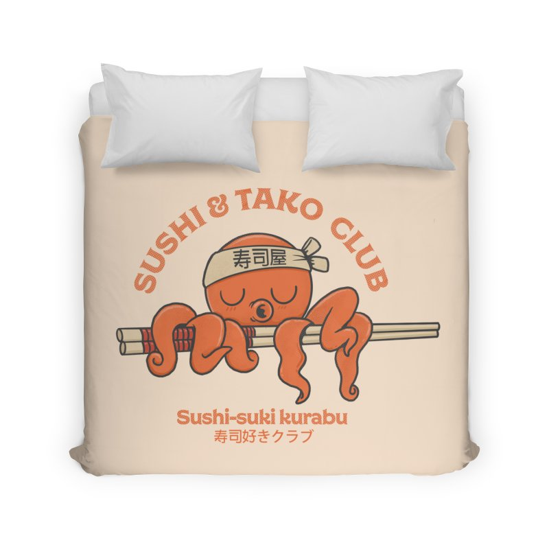 Sushi and Tako Club Home Duvet by Pepe Rodríguez