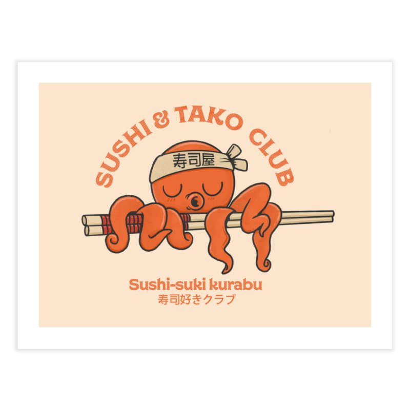 Sushi and Tako Club Home Fine Art Print by Pepe Rodríguez