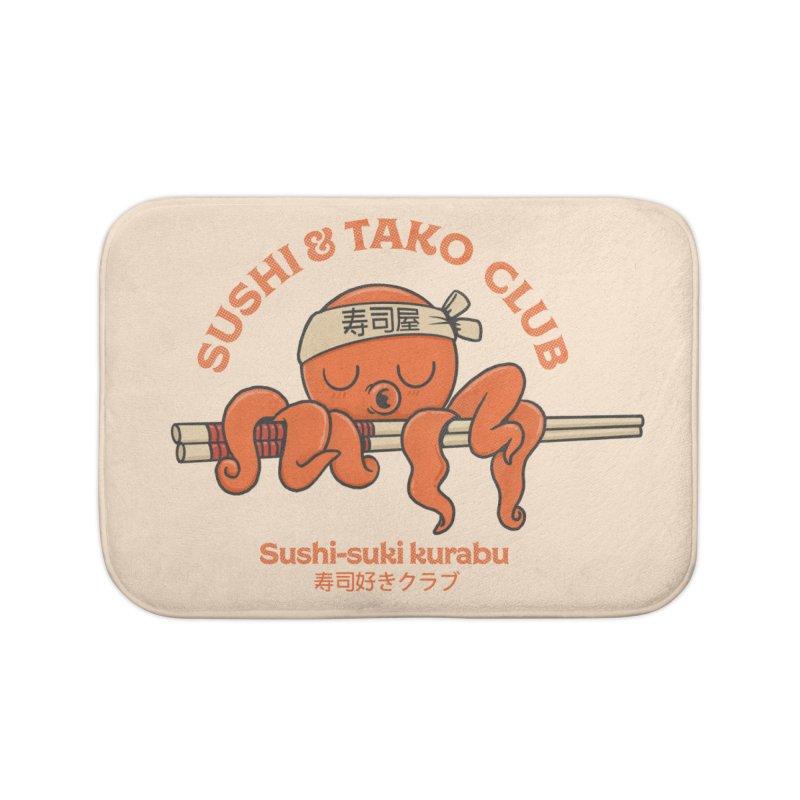 Sushi and Tako Club Home Bath Mat by Pepe Rodríguez