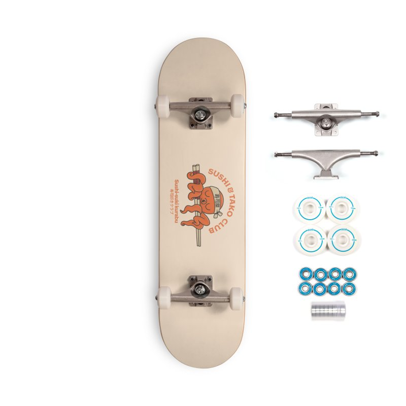 Sushi and Tako Club Accessories Complete - Basic Skateboard by Pepe Rodríguez