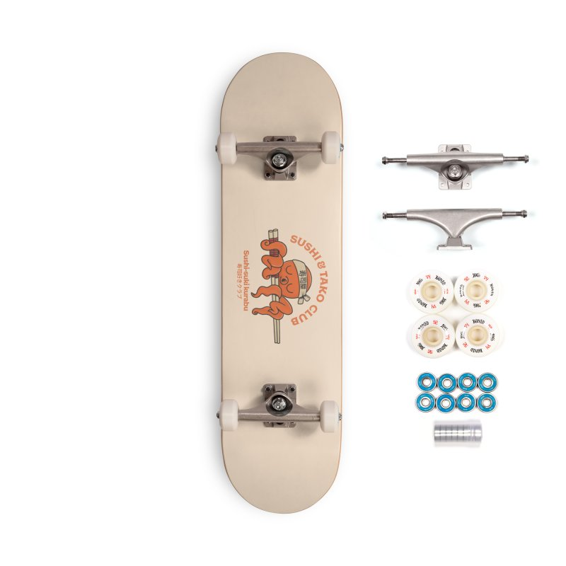 Sushi and Tako Club Accessories Skateboard by Pepe Rodríguez