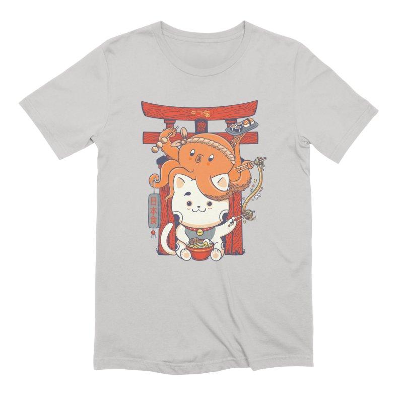 Tako and Neko Restaurant Men's Extra Soft T-Shirt by Pepe Rodríguez
