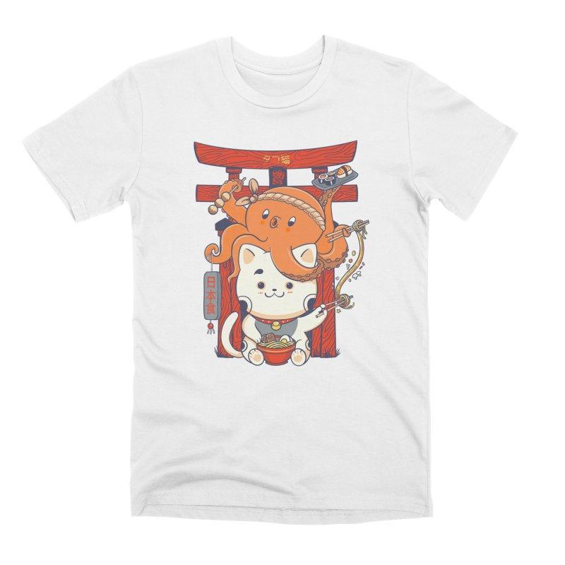 Tako and Neko Restaurant Men's T-Shirt by Pepe Rodríguez
