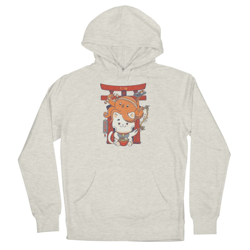 Tako and Neko Restaurant Men's French Terry Pullover Hoody by Pepe Rodríguez