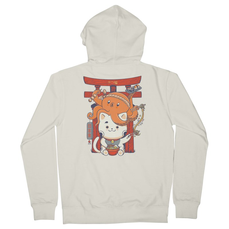Tako and Neko Restaurant Women's French Terry Zip-Up Hoody by Pepe Rodríguez