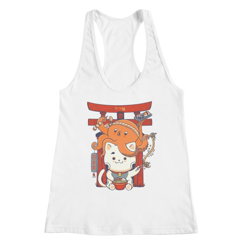 Tako and Neko Restaurant Women's Racerback Tank by Pepe Rodríguez