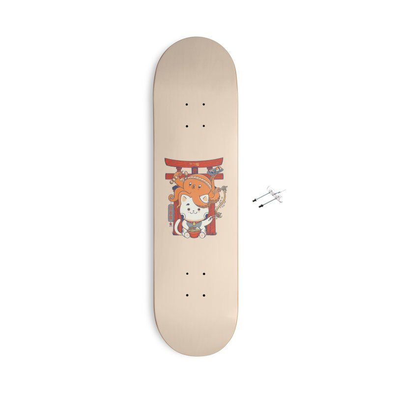 Tako and Neko Restaurant Accessories Skateboard by Pepe Rodríguez