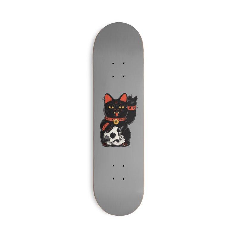 Unlucky Black Cat Accessories Skateboard by Pepe Rodríguez