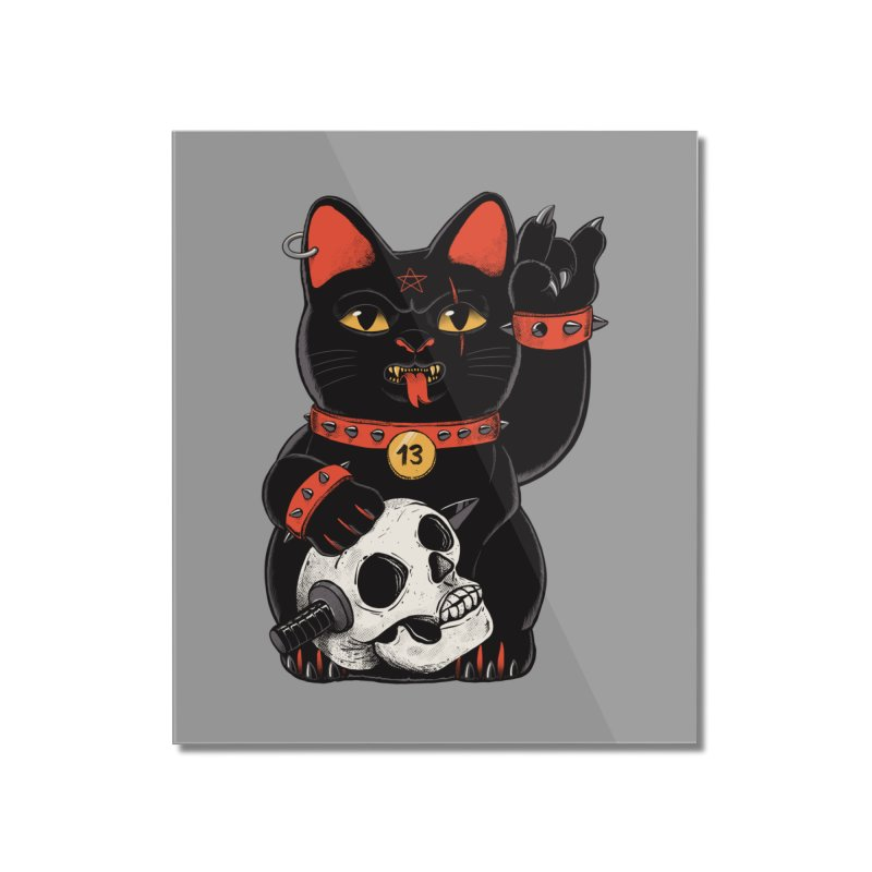 Unlucky Black Cat Home Mounted Acrylic Print by Pepe Rodríguez