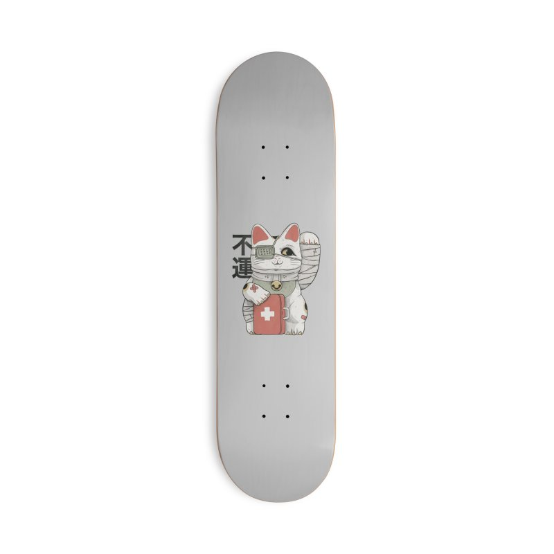 Unlucky white cat Accessories Skateboard by Pepe Rodríguez