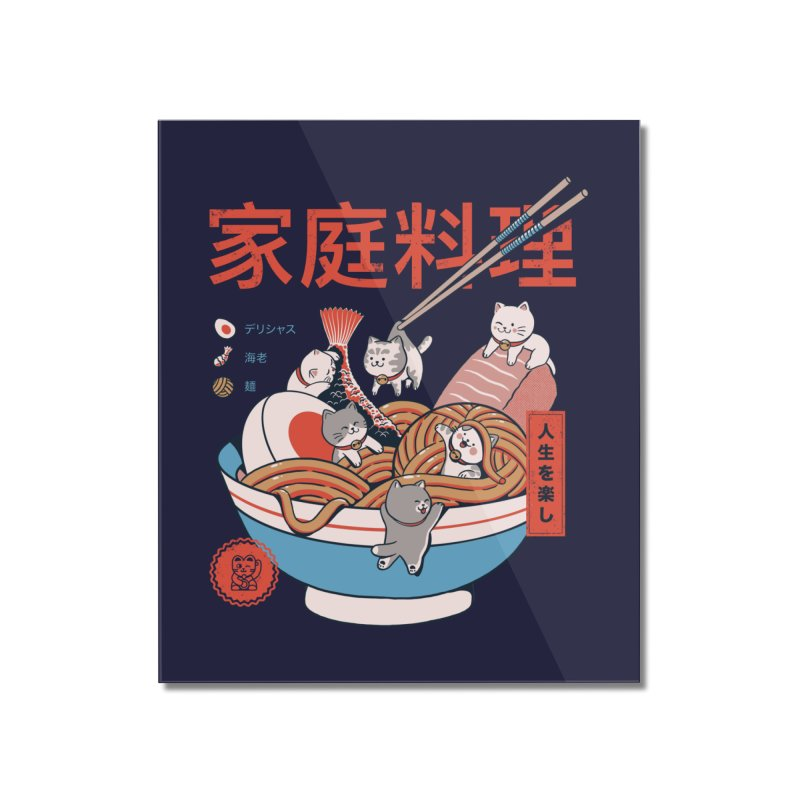 Ramen and Mini Cats Home Mounted Acrylic Print by Pepe Rodríguez