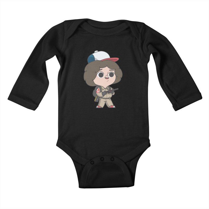 Ghost Things Kids Baby Longsleeve Bodysuit by Pepe Rodríguez