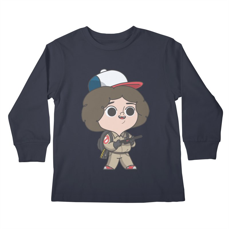 Ghost Things Kids Longsleeve T-Shirt by Pepe Rodríguez