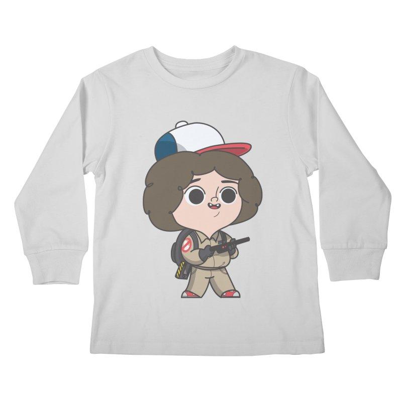 Ghost Things Kids Longsleeve T-Shirt by Pepe Rodríguez